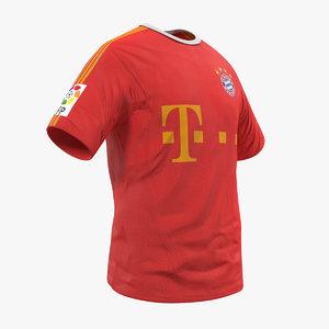soccer t-shirt bayern 2 3D