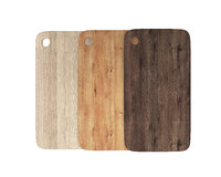 wooden chopping boards set 3D model