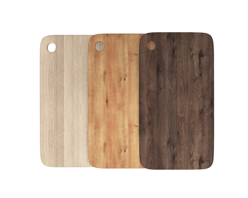 wooden chopping boards set 3D model