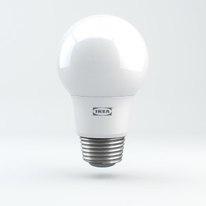 3D e27 ikea ryet light bulb