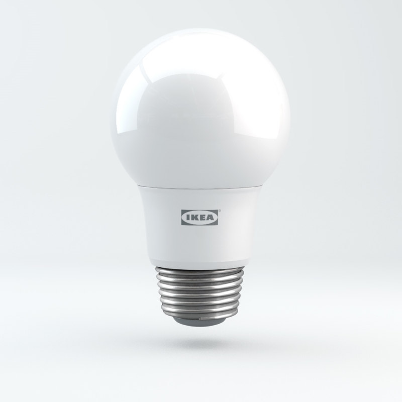 3D e27 ikea ryet light bulb