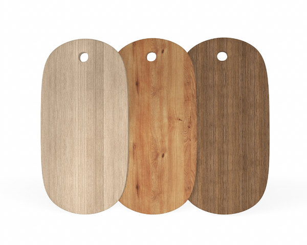 3D oval wooden chopping boards model