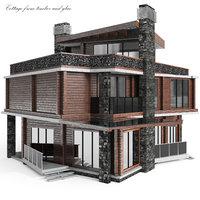 house pine graphite 3D model