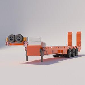 semi-trailer heavy-duty truck 3D model