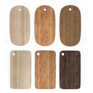 3D wooden chopping boards set