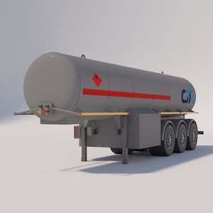 semitrailers - food 3D