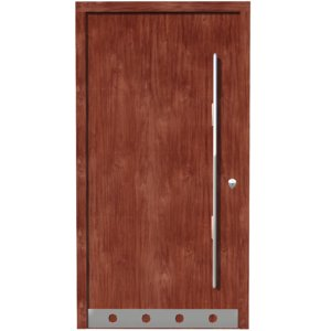 3D wood door model