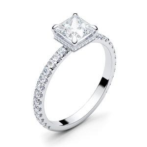 3D model princess engagement gem