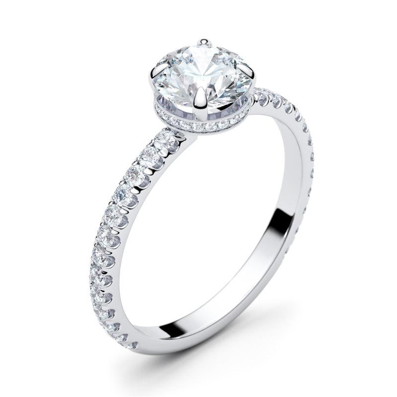 3D nimbus engagement halo ring