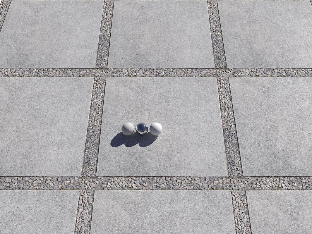 3D ultra realistic big floor tiles