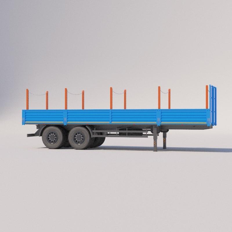 3D tilt semi-truck model
