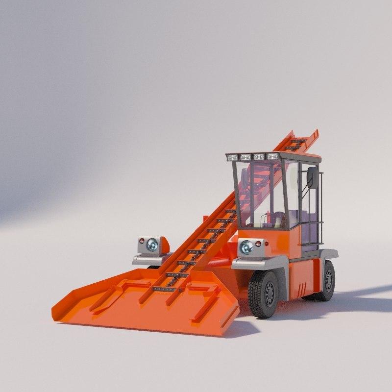 snow loader ko-206 3D model