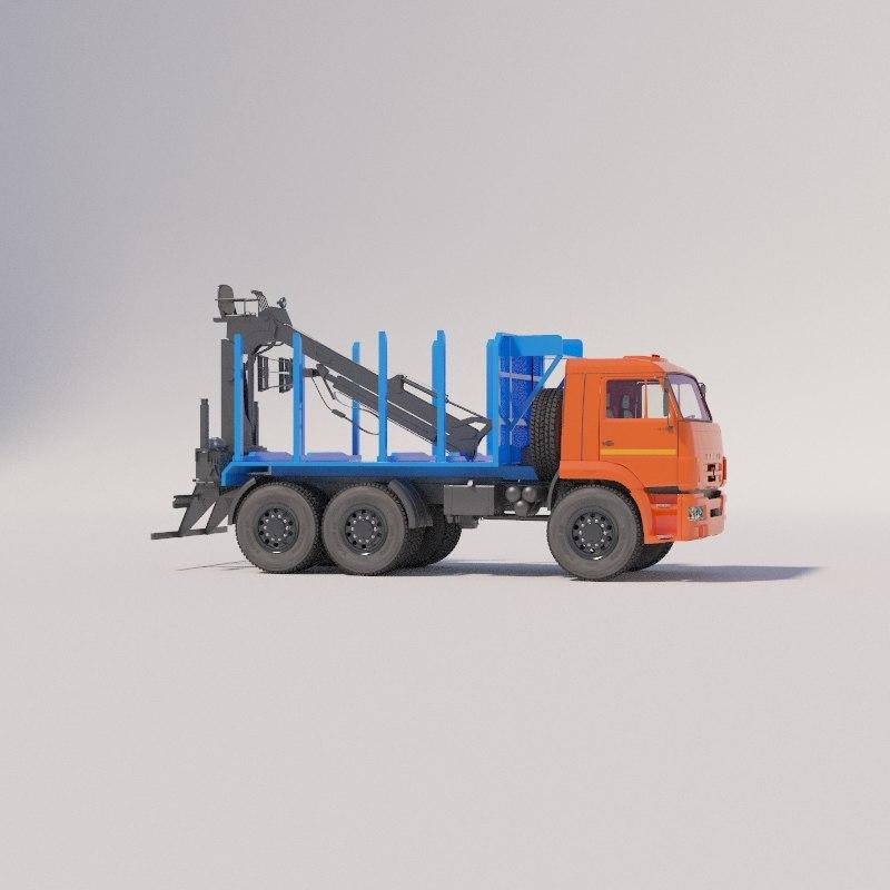 sortoventovozy chassis kamaz-43118-3078-46 3D model
