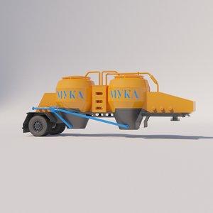 3D tank semitrailers