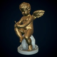 3D sculpture cupid doll