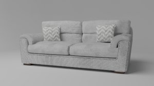 simple two-seat sofa 3D model