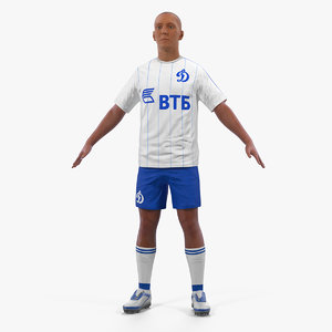 soccer football player dynamo 3D model