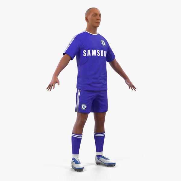 3D soccer football player chelsea