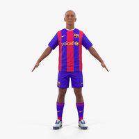 soccer football player barcelona 3D model