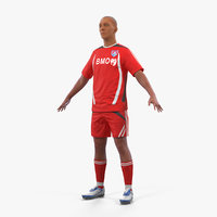 3D model soccer football player