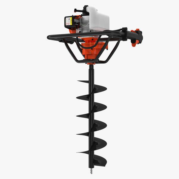 3D hole digger gasoline auger model