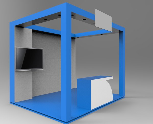 budget stall 3D model