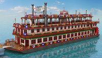 3D mississippi river boat model