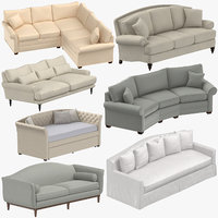 3D traditional sofas