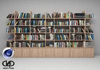 Bookshelf 01 C4D Vray