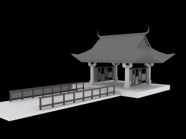 asia temple 3D model