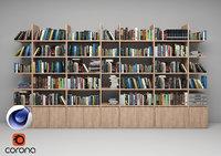 Bookshelf 01 C4D Corona