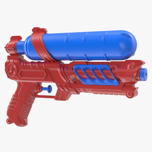 3D water gun generic model