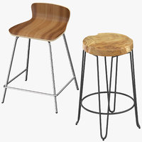 3D contemporary stools model