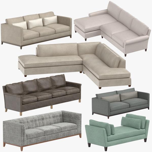 3D contemporary sofas model