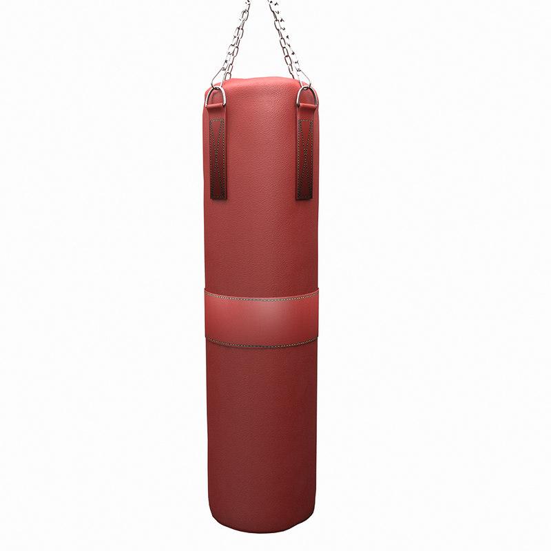 3D boxing sack model