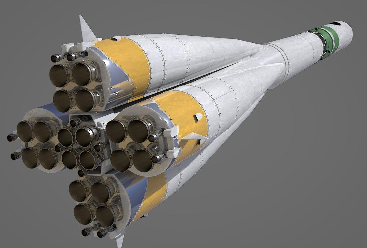 3D r-7 rocket vostok