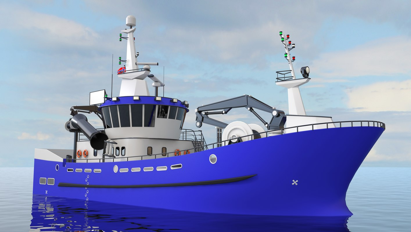 3D model service vessel