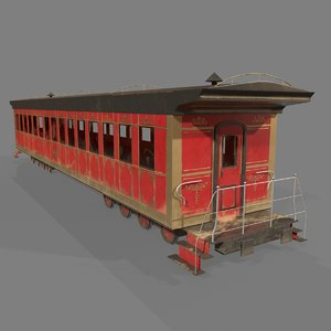 passenger wagon 3D model