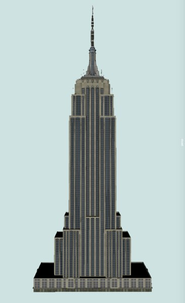empire state building 3D model