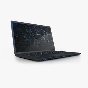 3D generic gaming laptop