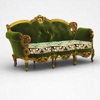 classic sofa 2 3D model