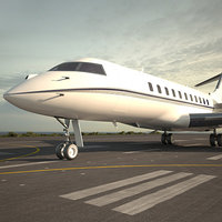 3D bombardier global express model