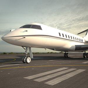 3D bombardier global express model