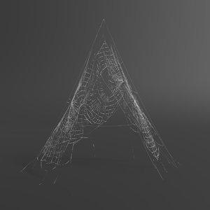 3D model web letter