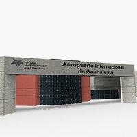 3D del bajio international airport