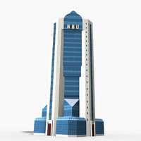 national bank uzbekistan 3D model