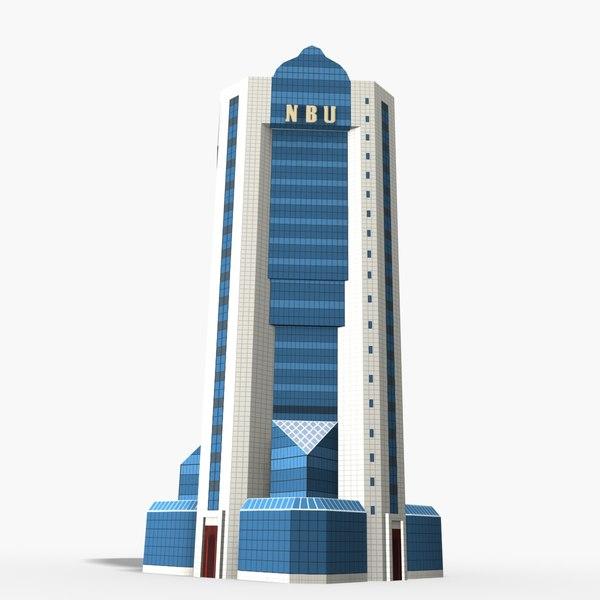national bank uzbekistan 3D model