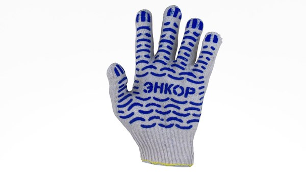 3D protective gloves cotton model