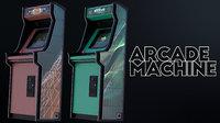 3D model classic arcade machine