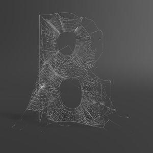 web letter b 3D model